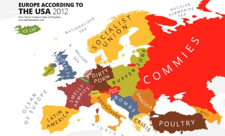 Map shows what america thinks about the world this is italy page 6 if this image by designer yanko tsvetkov is how americans see europe i wonder what a map of how europeans see america would look like do most non america gumiabroncs Images