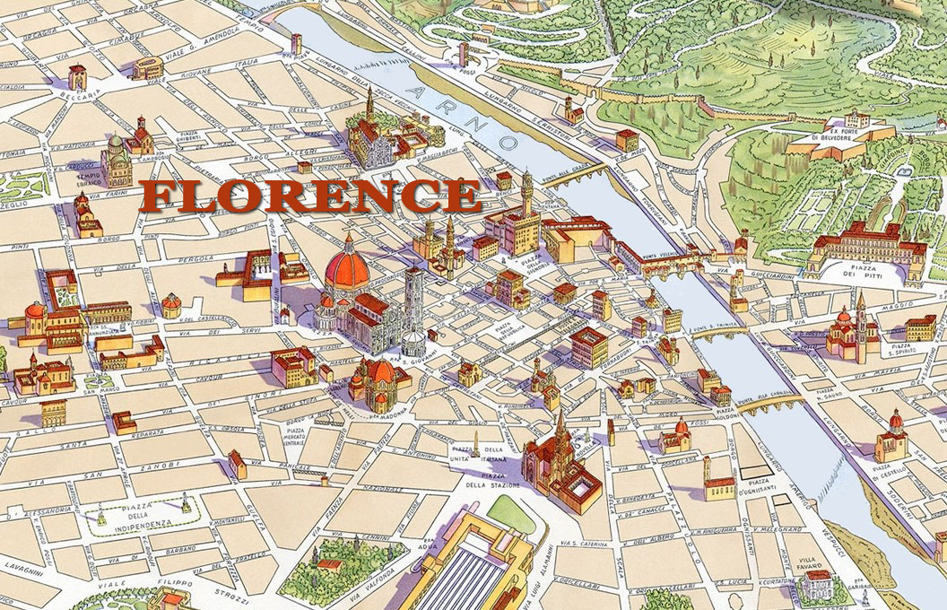 Map Of Florence Italy Map of Florence with major Places + Sights | This is Italy Map Of Florence Italy