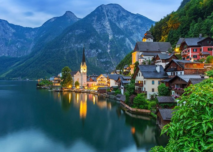 Hallstatt Is Often Ranked Among Europes And Even The Worlds Most Beautiful Places Much Of Its Beauty Can Be Thanked To Lake It Sits Along