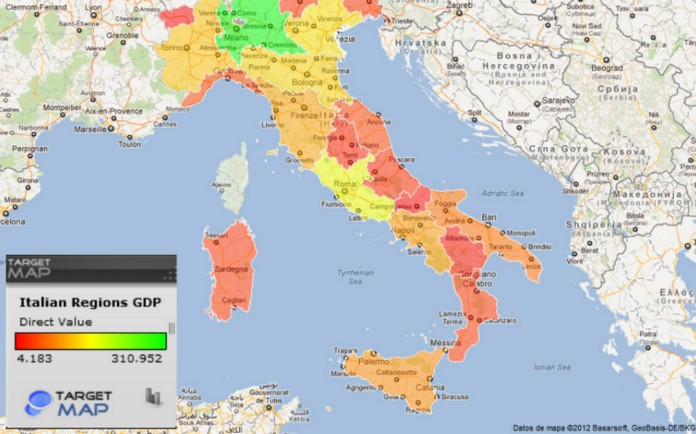 The Detailed Region Map Of Italy This Is Italy