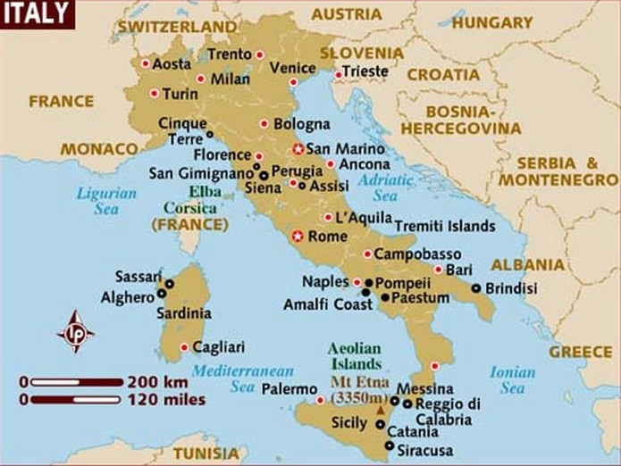 Areas Of Italy Map.The Detailed Region Map Of Italy This Is Italy