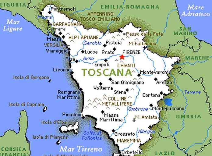 The Beautiful Region of Tuscany in Italy