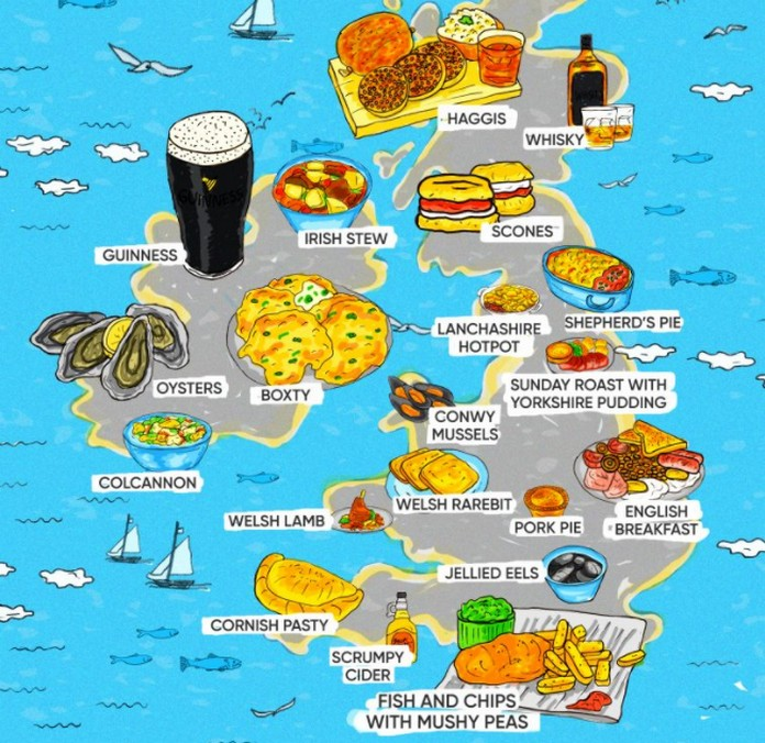 Map Shows The Most Popular Foods In Europe This Is Italy