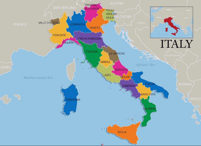 Map Of Italy And Austria With Cities.Map Of Italy With Major Cities Places This Is Italy