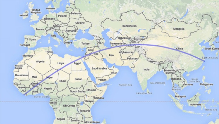 Map shows the Longest straight Walk in The World | This is Italy