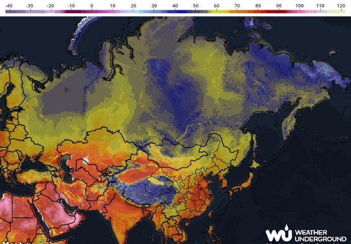 Map shows Highest Temperatures in The World | This is Italy ...