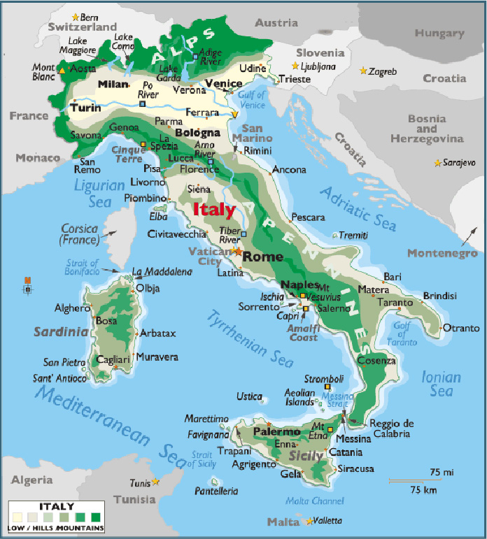 Map Of Cities Italy.Map Of Italy With Major Cities Places This Is Italy