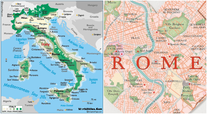 Map Shows how many Roads Actually Lead to Rome | This is Italy