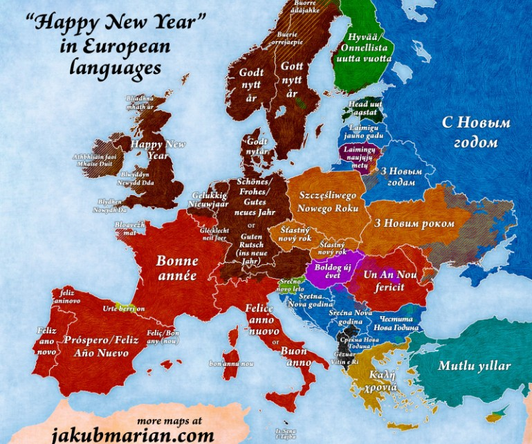 Map shows how to Say \'Happy New Year\' in 42 languages | This ...
