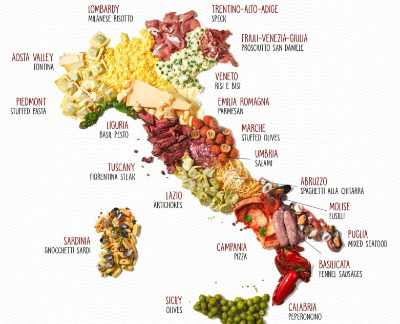 The Map Of Italy.The Food Map Of Italy This Is Italy